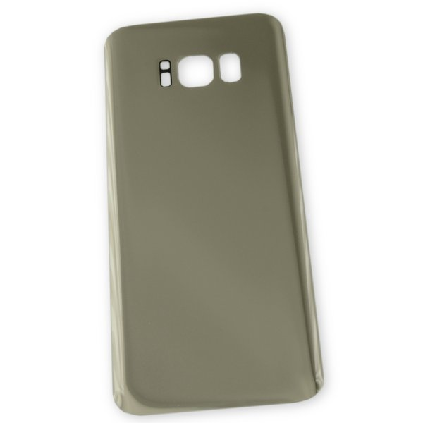 Galaxy S8 Aftermarket Blank Rear Glass Panel / Gold