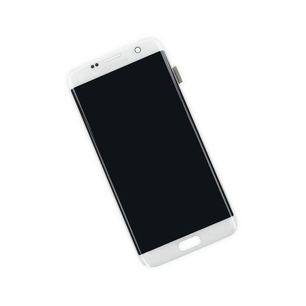 Galaxy S7 Edge LCD Screen and Digitizer / White / Part Only