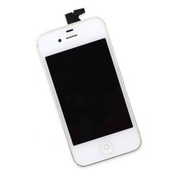 iPhone 4 CDMA Display and Midframe Assembly / White / A-Stock