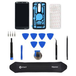Droid Turbo 2 Screen and Digitizer Assembly / Black / Fix Kit