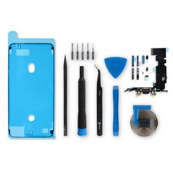 iPhone 8 Plus Lightning Connector Assembly / Black / Fix Kit