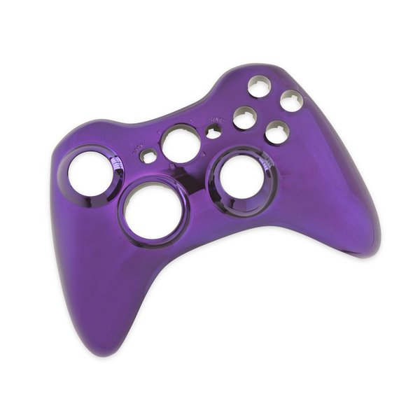 Xbox 360 Wireless Controller Front Panel (Transforming D-Pad) / Purple / A-Stock