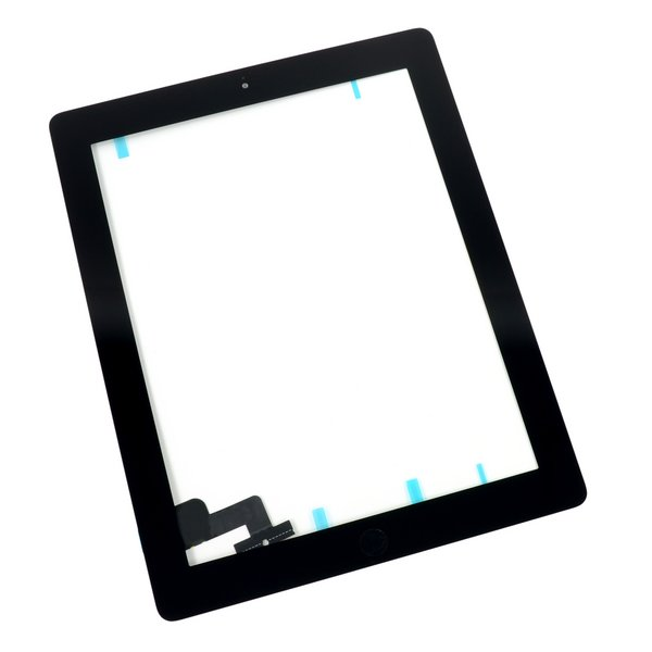 iPad 2 Front Glass/Digitizer Touch Panel Full Assembly / New / Part Only / Black