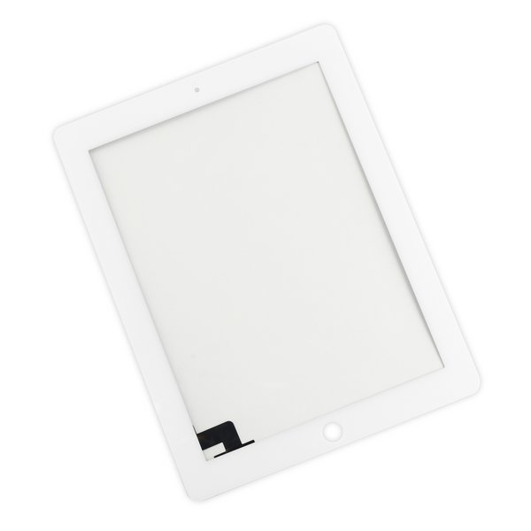 iPad 2 Digitizer Front Panel / New / Part Only / White / Without Adhesive Strips