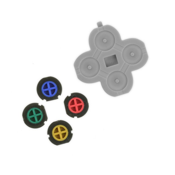 Nintendo 3DS XL (2015) Action Buttons & Rubber Gasket