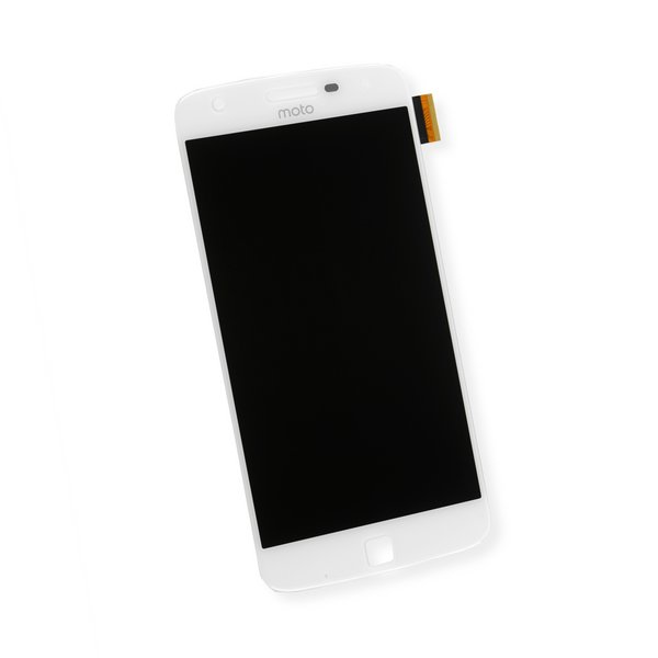 Moto Z Play LCD Screen and Digitizer / White / Part Only