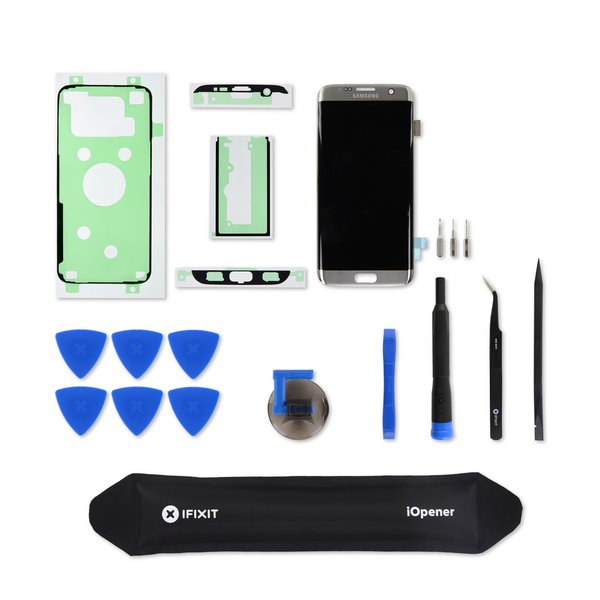 Galaxy S7 Edge Screen and Digitizer / Silver / Fix Kit