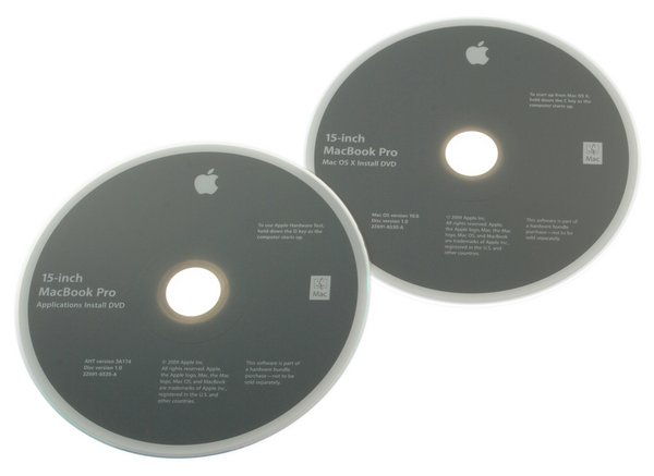 "MacBook Pro 15"" Unibody (2.53 GHz Mid 2009) Restore DVDs"